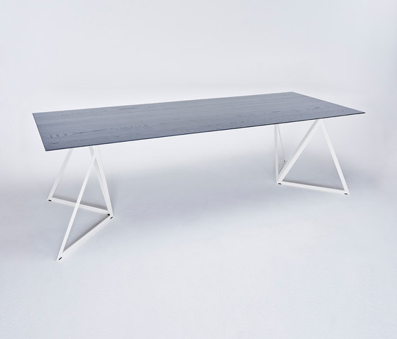 Steel Stand Table - cream white/ ash black by NEO/CRAFT | Dining tables
