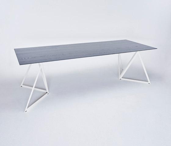 Steel Stand Table - cremeweiß/ esche schwarz von NEO/CRAFT | Esstische
