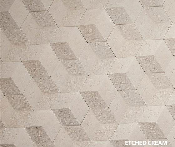 Hive   Etched Cream de Tango Tile   Dalles en pierre naturelle