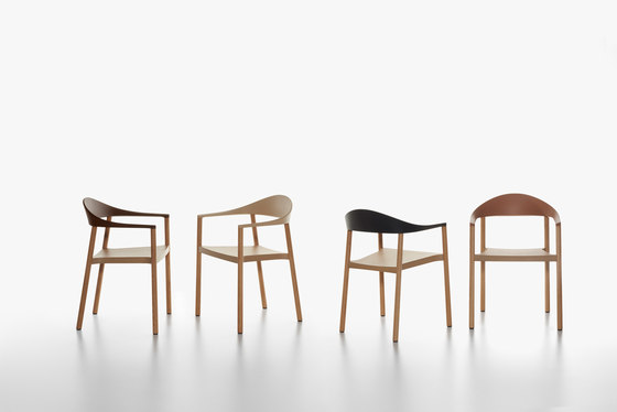Monza armchair by Plank | Restaurant chairs