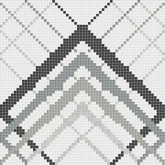 Overlap White Silver de Mosaico+ | Mosaïques verre