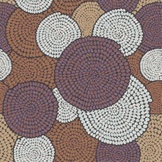 Round Brown by Mosaico+ | Glass mosaics