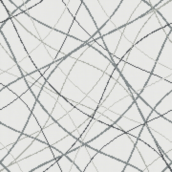 Wired White de Mosaico+ | Mosaïques verre