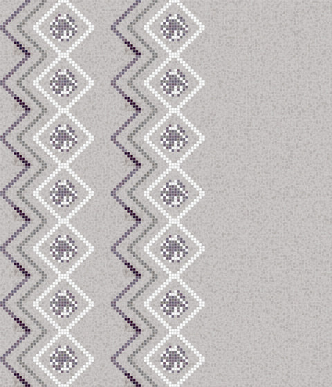 Decor Geometric | Seamless Lilac 15x15 by Mosaico+ | Glass mosaics