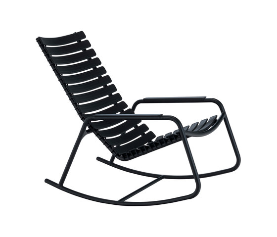 CLIPS | Rocking chair with Aluminum armrests by HOUE | Armchairs