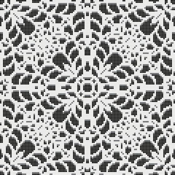 Doily Black de Mosaico+ | Mosaïques verre