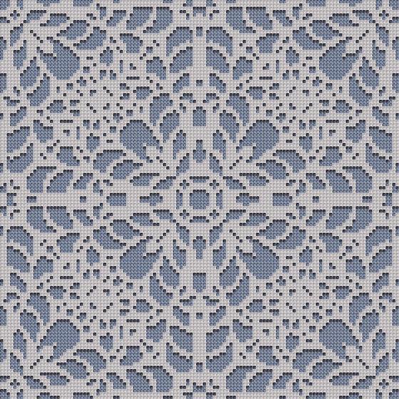 Doily Grey Blue de Mosaico+ | Mosaïques verre