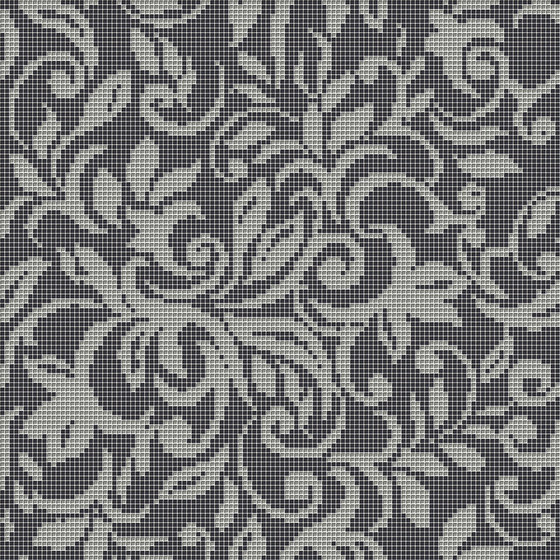 Decor Romantic | Tapestry Silver 10x10 de Mosaico+ | Mosaicos de vidrio