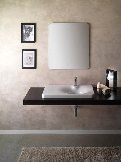 Fuji | 80 Shelf DX by Scarabeo Ceramiche | Wash basins