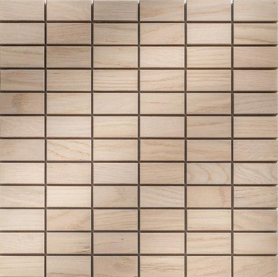 Legno | Rovere Sbiancato R di Mosaico+ | Mosaici legno