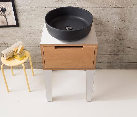 Mizu | Console 45 by Scarabeo Ceramiche | Vanity units
