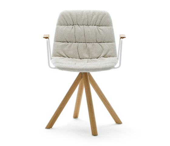 Maarten chair wooden base by viccarbe | Visitors chairs / Side chairs