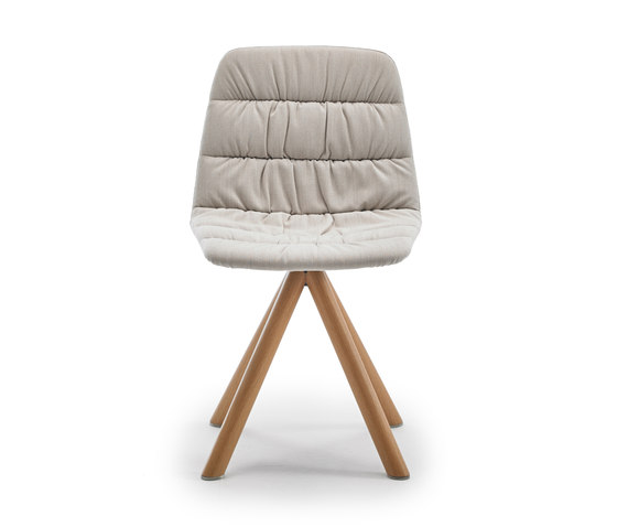 Maarten chair wooden base by viccarbe | Chairs