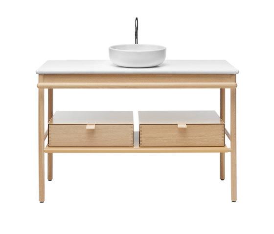 Mya | Ceramic washbasin incl. vanity unit by burgbad | Vanity units