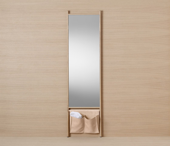 Mya | Tall mirror by burgbad | Towel rails