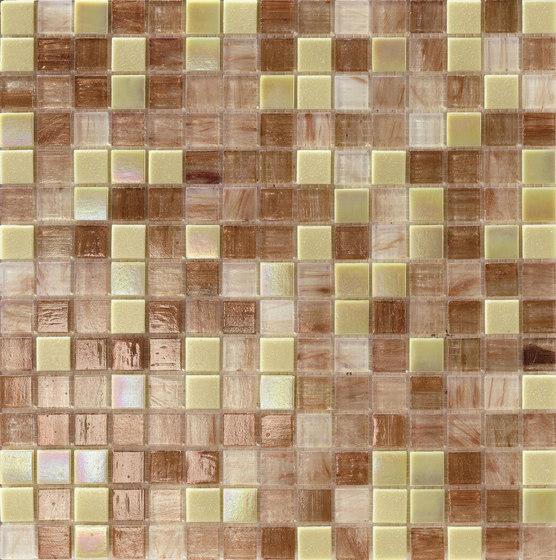 Cromie 20x20 Cappuccino di Mosaico+ | Mosaici vetro