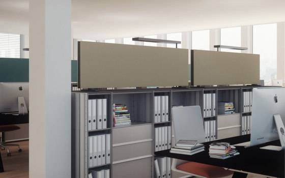 acoustic Double sided panels by adeco | Suspended panels