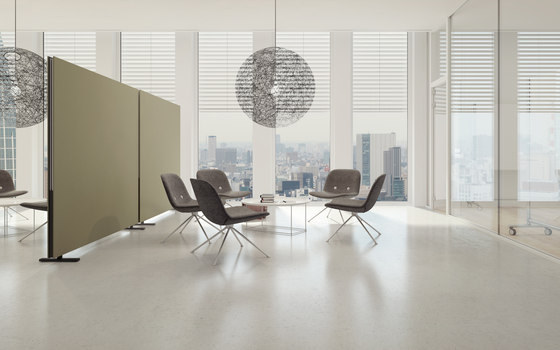 acoustic Partition Wall free standing by adeco | Freestanding panels