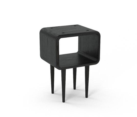 Teve | small - oak black stain  - with recesses de Wiinberg | Mesas auxiliares