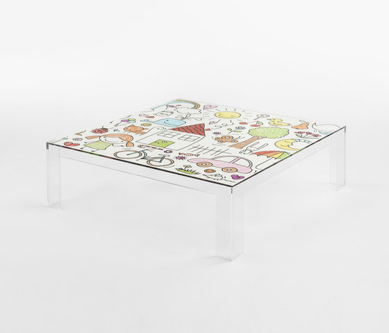 Invisible Kids table low by Kartell | Kids tables
