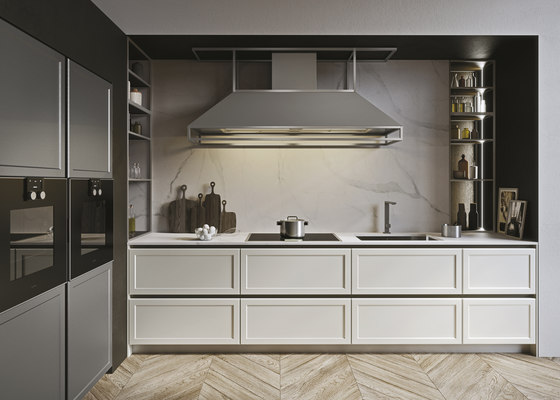 Frame | bianco nordic by Snaidero USA | Kitchen hoods