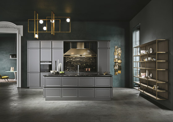 Frame | grigio piombo by Snaidero USA | Fitted kitchens