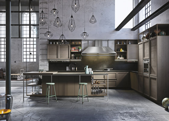 Frame | marrone terra by Snaidero USA | Fitted kitchens