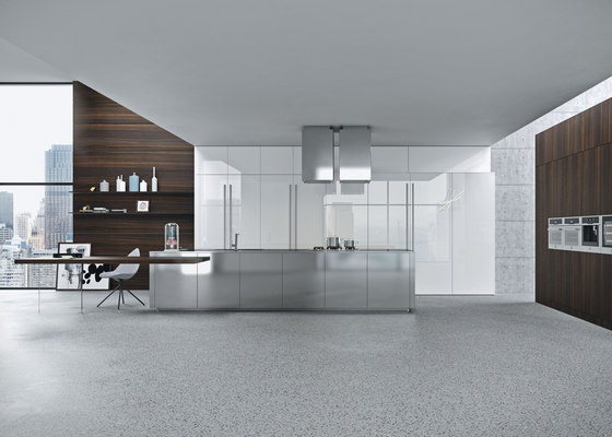 Opera | acciaio by Snaidero USA | Fitted kitchens