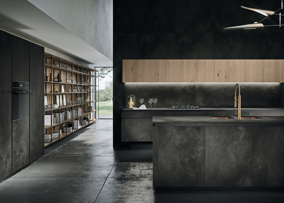 Way ceramica | ossido nero by Snaidero USA | Fitted kitchens