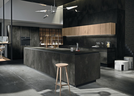 Way ceramica | ossido nero by Snaidero USA | Island kitchens