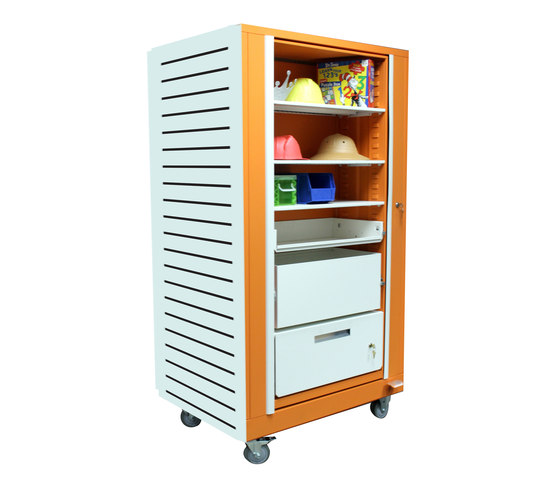 Times-2 Rotary Teacher's Cabinet by Aurora Storage | Cabinets