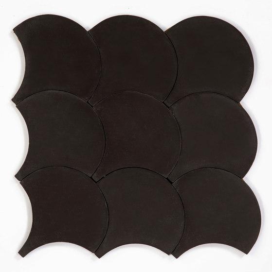Shell - Black di Granada Tile | Piastrelle cemento