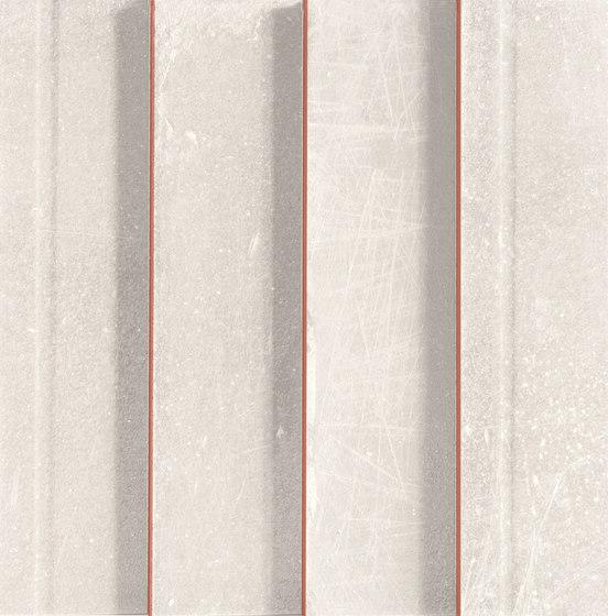 L'H Bianco Righe by EMILGROUP   Ceramic mosaics