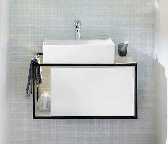 Junit | Ceramic washbasin incl. vanity unit by burgbad | Vanity units