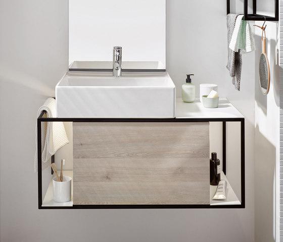 junit vasque poser en c ramique avec meuble sous. Black Bedroom Furniture Sets. Home Design Ideas