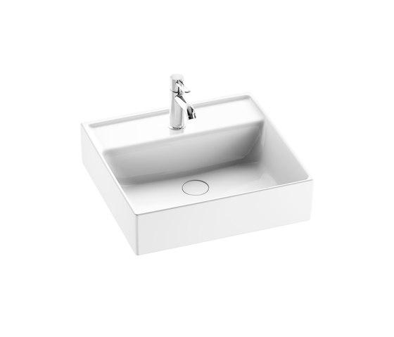 Sys30 | Ceramic washbasin sit on vessel by burgbad | Wash basins