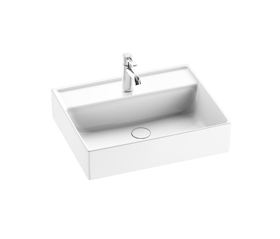 Sys30 | Ceramic washbasin sit on vessel by burgbad | Wash basins