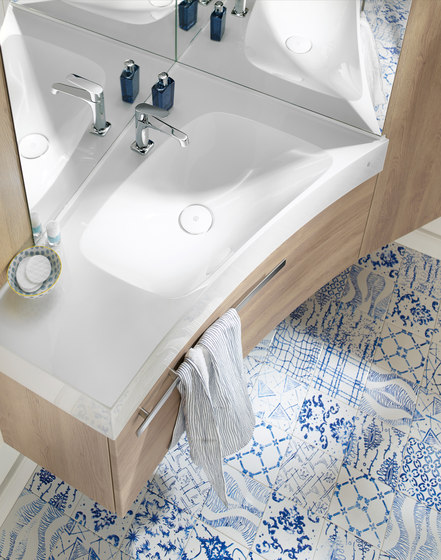 Sys30 | Solution d'angle de burgbad | Armoires de salle de bains