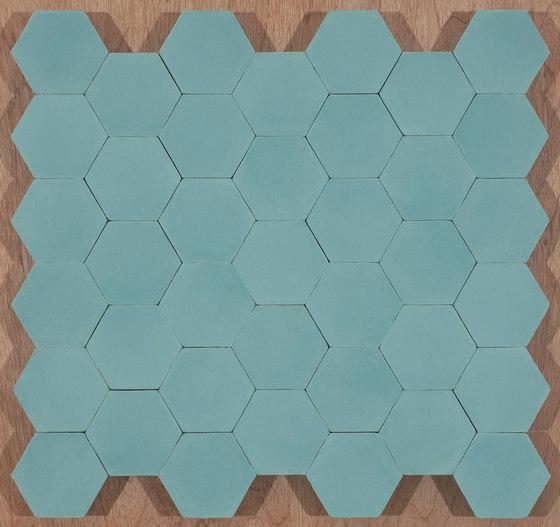 Hexagon-aqua by Granada Tile | Concrete tiles