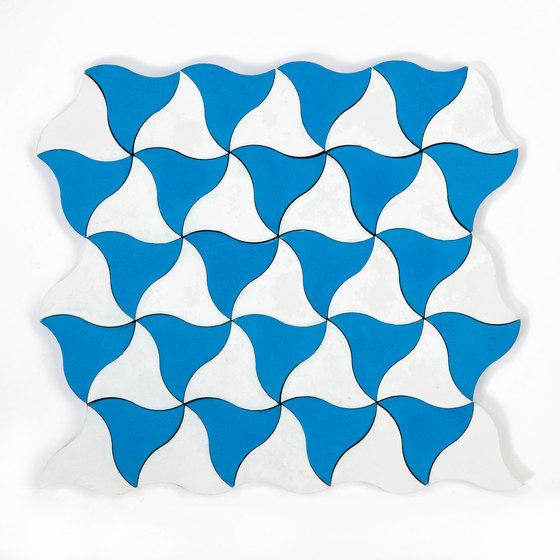 Kite-Blue-White by Granada Tile | Concrete tiles