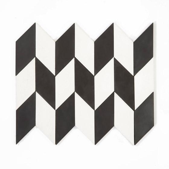 Short-Accordion-Hopscotch-white-black by Granada Tile | Concrete tiles
