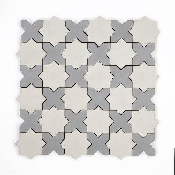 Star & Cross-GreySilver di Granada Tile | Piastrelle cemento