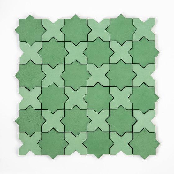 Star & Cross-PineSage de Granada Tile   Baldosas de hormigón