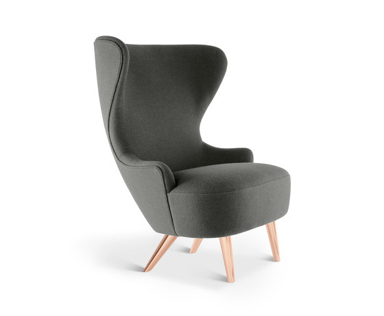 Micro Wingback Chair Copper Leg Hallingdal 65 de Tom Dixon | Sillones lounge