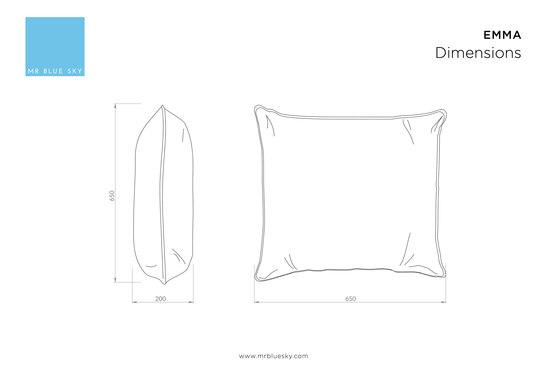 Emma | deco cushion by Mr Blue Sky | Cushions