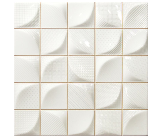 3d Tissu White Ceramic Tiles From Dune Cer 225 Mica