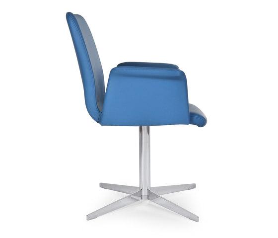 Flo armchair star de Riccardo Rivoli Design | Sillas de conferencia