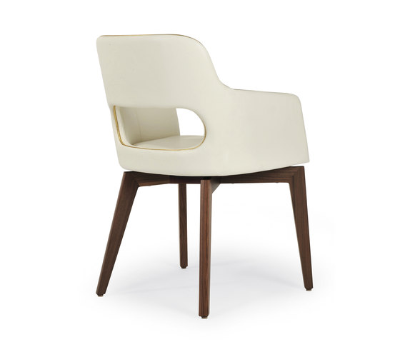 Marlene 200 wood by Riccardo Rivoli Design | Visitors chairs / Side chairs