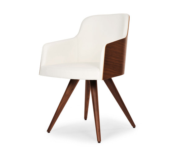 Marlene 200w wood cone von Riccardo Rivoli Design | Besucherstühle