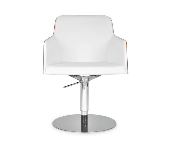 Marlene 200w round de Riccardo Rivoli Design | Sièges visiteurs / d'appoint